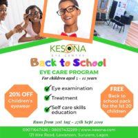2019 back to school eye care program flyer